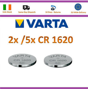 2x/ 5x VARTA CR1620 Lithium 3V coin cell battery CR 1620