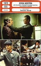 Fiche Cinéma Neuve. Movie Card New. Cosa Nostra (Italie/Fr) 1972 Terence Young