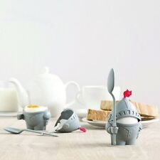 1 Arthur ABS Boiled Egg Cup Holder with Eating Spoon Knight In Shining Armour
