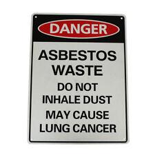 WARNING DANGER ASBESTO WASTE NO NOT INHALE DUST SIGN 300*225MM METAL SECURITY