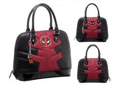 "MARVEL Comics Licensed DELUXE 12"" DEADPOOL Bowling Bag SATCHEL Purse w/ Charm"