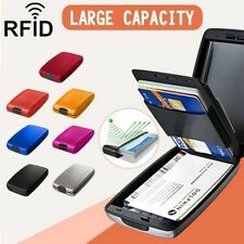 RFID Secure Cash and Cards Wallet Aluminum Alloy Card Holder Men Women Wallet