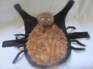 Simply Dog Halloween Pet Tarantula Spider Costume Clothes Faux Fur Body