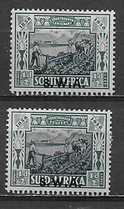SOUTH WEST AFRICA , 1935/36 , SEMI-POSTAL , B5a & b , (2) 1/2p+1/2p STAMPS , VLH