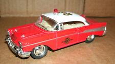 1/40 Scale 1957 Chevy Bel Air Fire Chiefs Car Model Emergency Toy Kinsmart 5325D