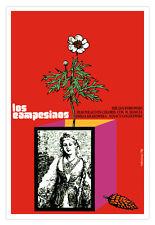 Cuban film Graphic Design movie Poster.LOS CAMPESINOS.film.Home Room art