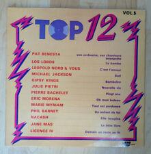 """33T TOP 12 Vol.5 Vinyle LP 12"""" Pat BENESTA Orchestre Chanteurs Michael JACKSON"""