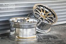 19x9.5/11 Aodhan DS02 5x114.3 +22 Vacuum Chrome Rims Fits G35 Coupe 350Z Supra