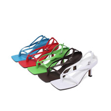 Summer Casual Solid Color Buckle Women's Sandals Lady Multicolor Cozy High Heels