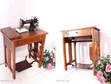 Antike Jugendstil Nähmaschine MUNDLOS ORIGINAL-VICTORIA Schubladen Org. Zubehör