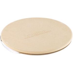 Schamottstein: Runder Pizzastein mit Aluminium-Servierblech, Ø 26 cm (Backstein)