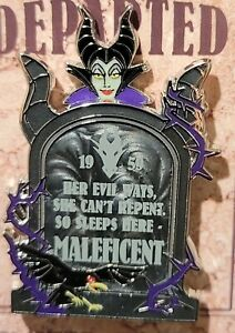 Disney Villains Fearly Departed Tombstone Maleficent Pin LE 5000 New In Hand