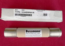 Bussmann 5-5 abwna 1E, 5.5KV, h.r.c. Fusible cilíndrico retardo de tiempo, 5500VAC (nuevo)