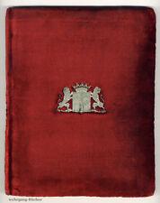 Prächtige Dokumentenmappe mit silbernem Wappenbeschlag um 1900