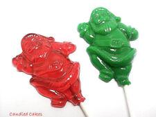12 SANTA LOLLIPOPS - Stocking Stuffers, Christmas Candy, Hard Candy Lollipops