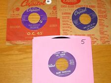 LOT of 3 COUNTRY 45 RPMs - HANK THOMPSON - CAPITOL 2646 3275 4017