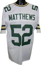 Clay Matthews unsigned White Custom Stitched Pro Style Football Jersey XL