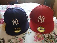 New York Yankees Purple Red New Era Snapback Cap Size 7 1/4 57.7 CM