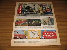 1950 Print Ad Atlas Tires & Batteries One Stop Service Station