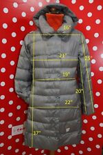 449$ CBY+WHITE sz it 46 us 12 L jacket nano puffer coat lightweight down women