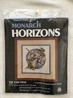 Monarch Horizons The Unicorns Blue Crewel Stitchery Kit CR13 Roger Reinardy