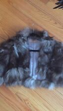 Silver Saga Fox Fur Cape size M