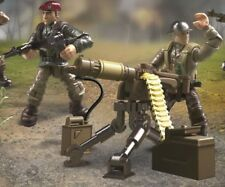 Call of Duty COD Mega FMG15 Legends Allied Soldiers WW2 FIGURES #1&4 W/MG & SMG