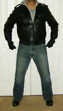 Members Only Leather CAFE Jacket - size 44