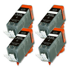 4 PK BLACK Premium Ink Cartridge plus CHIP for Canon PGI-225PGBK MG5320 6120 882
