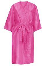 Pink Classic Long Satin Robe Sleepwear Nightwear Dressing Gown  Size 14/16 (J52