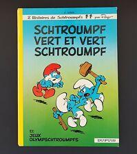 ALBUM BD EO SCHTROUMPF VERT ET VERT SCHTROUMPF DUPUIS 1973 TRES BON ETAT