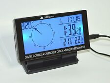 Car electronic digital compass with in/out temperature clock & calendar