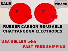 """2 CARBON RUBBER MULTI USE ELECTRODE 3"""" for Laboratories HILL IFC Interferential"""