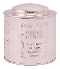 Zuckerdose Metall silber Sugar, edel