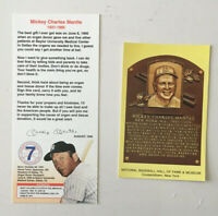 Mickey Mantle 8 card Upper Deck Lot + HOF Postcard + Donor Organ Card