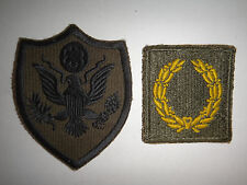 2 US Military Subdued Patches US ARMY + MERITORIOUS UNIT COMMENDATION 1st Award