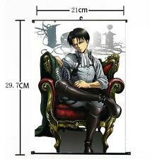 Hot Japan Anime Attack on Titan Levi Home Decor Poster Wall Scroll 21*30CM
