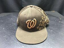 59Fifty New Era Brown Washington Nationals Baseball Hat 7 3 /4