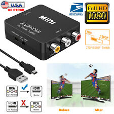 RCA AV to HDMI Converter Composite CVBS Video Adapter 720p 1080p For Wii NES SNE