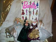 Winter Barbies 4 Special Collectible 1976 1991 1996 2003 BOOK Collectible ALL 5