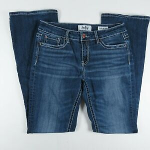 Daytrip Womens Jeans Size 28L Virgo Bootcut Mid Rise Blue Denim