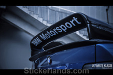 BMW E36 GT SPOILER CLASS 2 Sticker BMW MOTORSPORT Heckspoiler Heckflüg Aufkleber