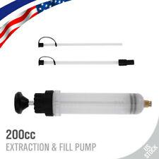 200 cc Automotive Fluid Extraction & Filling Syringe Kit Vacuum Pump Oil Changer