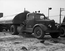 "1940's White Road Tractor Tanker Semi Truck Rig Trucking 8""x 10"" Photo 60"