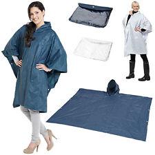 Poncho Impermeabile PVC Regolabile Universale con Cappuccio Pioggia e Custodia