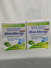 X 2  Boiron RhinAllergy Kids Allergy Relief Homeopathic 60 tablets exp 3/2023