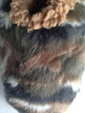 Snoozies Foot Covering Slippers BROWN FOREST CAMO Women's Size S 5/6 NWT