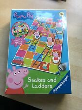 KIDS PEPPA PIG SNAKES AND LADDERS BOARD GAME,  3+. NEW