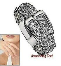 AVON STERLING SILVER BUCKLE RING SIZE 7