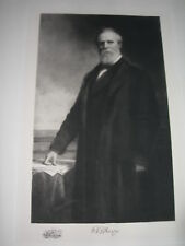 Antique Vintage Print Rutherford B. Hayes Art Etching 19th President